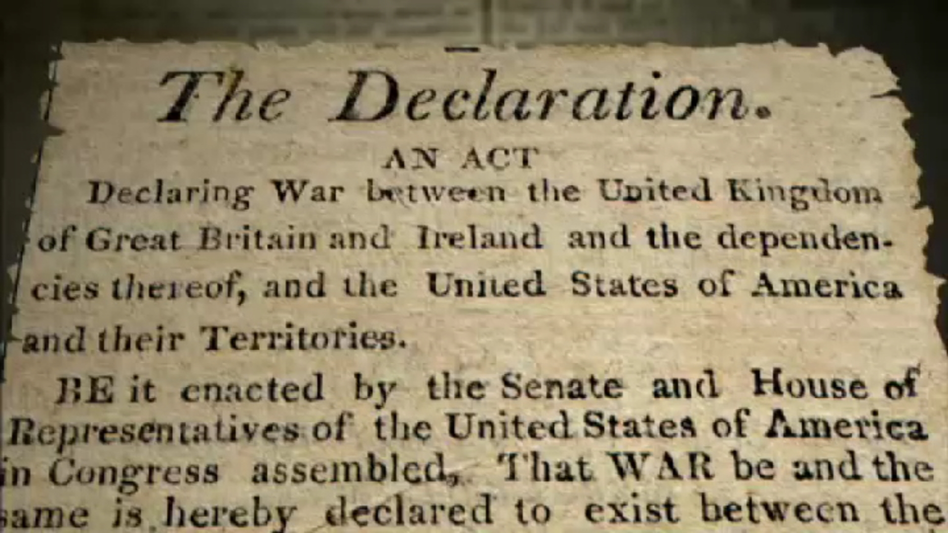 caustic causes war of pbs 1812 declaration of war